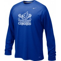 Three Rivers 04: Adult-Size - Nike Team Legend Long-Sleeve Crew T-Shirt - Royal with Logo Choice