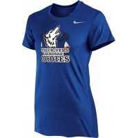 Three Rivers 03: Nike Women's Legend Short-Sleeve Training Top - Royal