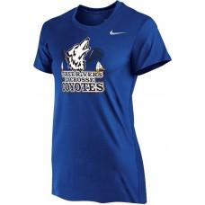 Three Rivers 03: Nike Women's Legend Short-Sleeve Training Top - Royal