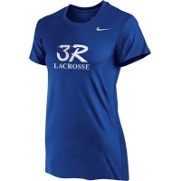 Three Rivers 03: Nike Women's Legend Short-Sleeve Training Top - Royal with Logo Choice