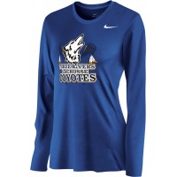 Three Rivers 06: Nike Women's Legend Long-Sleeve Training Top - Royal