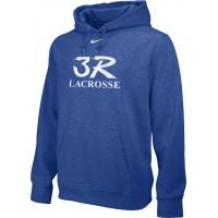 Three Rivers 07: Adult-Size - Nike Team Club Men's Fleece Training Hoodie - Royal with Logo Choice