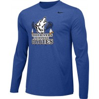 Three Rivers 04: Adult-Size - Nike Team Legend Long-Sleeve Crew T-Shirt - Royal